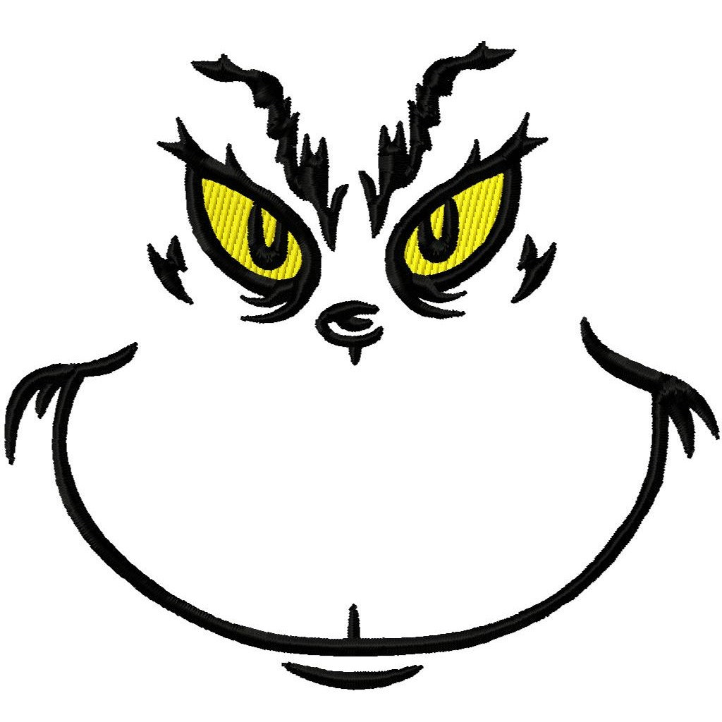 Crazy image for printable grinch face template