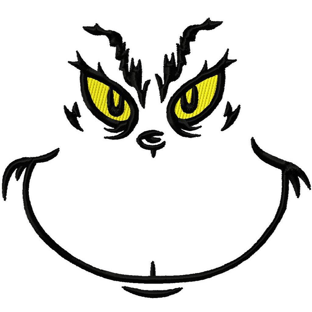 Grinch Face Stencil