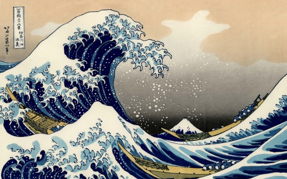 Masterpieces Art Paintings Hd Wallpapers (Vol.03 ) Fine Art Painting Hokusai, Katsushika The Wave, C.1830 , New York, Metropolitan Museum