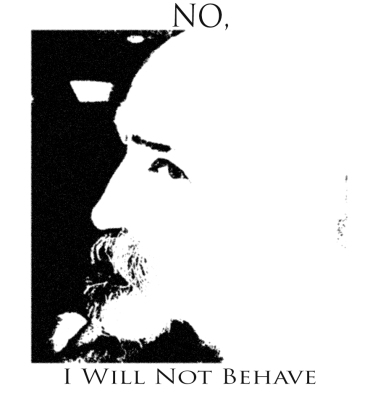 NO I WILL NOT BW POSTER