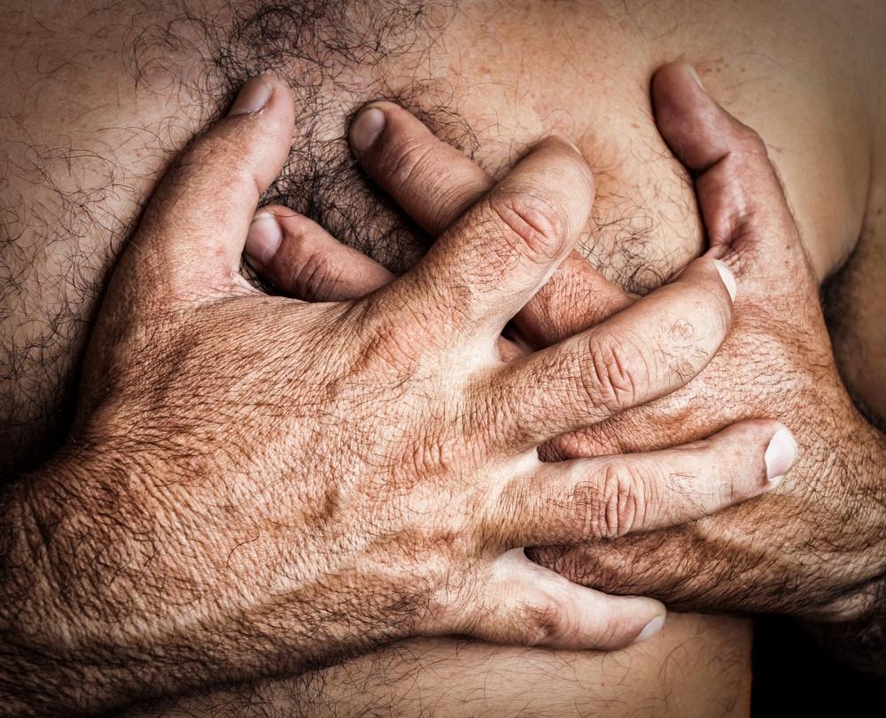 Man suffering a heart attack